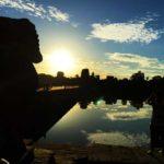アンコールワットでの朝日(2015年)